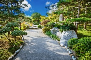 Japanese Garden with Boulders