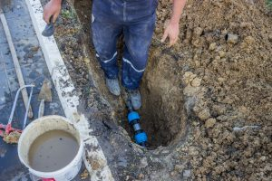 Irrigation Repair to Main Line, Irrigation Tech