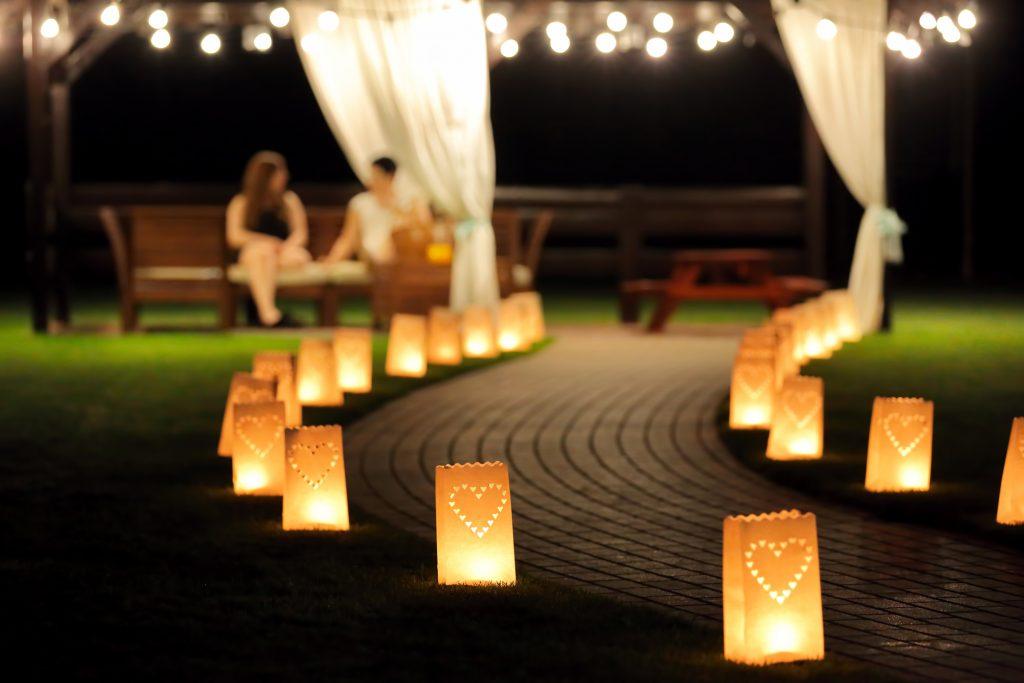 lighted walkway